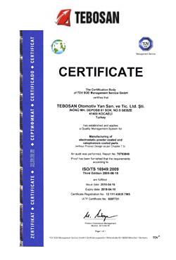 IATF 16949:2016 Otomotiv Kalite Yönetim Sistemi Belgesi